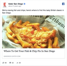 Eater FB Fish & Chip Heatmap