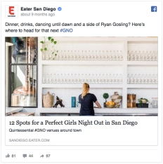Eater FB Girl's Night Out Heatmap